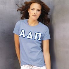 Alpha Delta Pi Ladies T-Shirt $15.99 #Greek #Sorority #Clothing #ADPi #AlphaDeltaPi