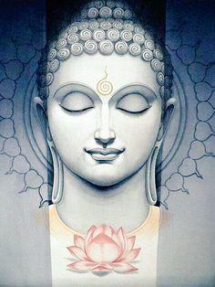 Buddha Tattoo Design, Buddha Tattoos, Buddha Kunst, I'm A Believer, Little Buddha, Buddha Painting, Buddha Drawing, Buddha Artwork, Buddhist Quotes