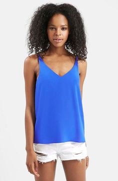 Topshop Strappy V-Neck Camisole available at #Nordstrom