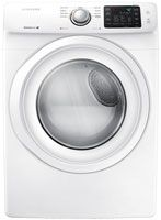 7.5 Cu. Ft. Capacity/ Smart Care/ 9 Preset Drying Cycles/ 9 Options/ 4 Temperature Settings/ 4 Dry Levels/ 4-Way Venting/ Sensor Dry/ Dryer Drum Light/ Reversible See-Through Door/ Child Lock/ My Cycle Option/ Lint Filter Indicator/ White Finish