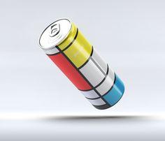 Pepsi - Mondrian inspired can design concept by Andrea Salamino Piet Mondrian, Mondrian Kunst, Graphisches Design, Shape Design, Print Packaging, Packaging Design, Bauhaus, Theo Van Doesburg, Composition Painting