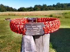 Custom Paracord Dog Collar with Woven in Dog by DanTheParacordMan, $25.00