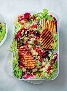 Greek-style taco salad with halloumi from We Don't Eat Anything With A ...