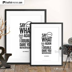 Say What Again - I Double Dare You Motherfucker - Jules Winnfield - Alternative Movie Poster Minimal Movie Posters, Cool Posters, Double Dare, Do It Yourself Furniture, Alternative Movie Posters, Cult Movies, Say What, Frame It, Typography Prints