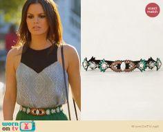 Zoe's green and orange beaded belt on Hart of Dixie. Outfit Details: http://wornontv.net/23478 #HartofDixie #fashion