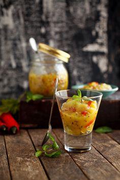 Mango chutney, easy and naturally acidic