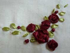 ribbon needlework | Ribbon embroidery