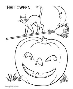 Coloring Pages Pumpkin PagesHalloween