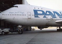 Pan Am Clipper Pulling into the Hangar