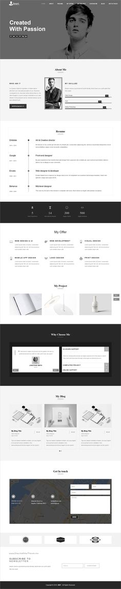 Myers - Responsive vCard / Resume / CV Template Cv template and