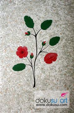 apple tree flower marbling