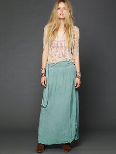 Free People Spinner Maxi Skirt, $128.00