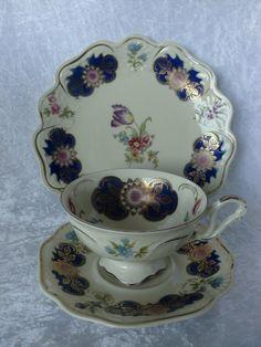 Déjeunerset plate cup saucer beautifully decorated di MooieZooi