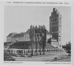 Ausstellungshallen und Hochzeitsturm Nord-Ostseite, 1908