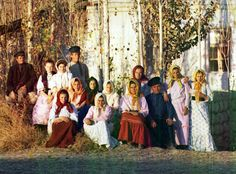 Переселенческий хутор в Надеждинском поселке с группой крестьян (фрагмент)