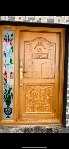 Single Door Design, Wooden Main Door Design, Single Doors, Tapas, Carving, Home Decor, Doors, Decoration Home, Room Decor