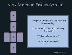 Ace of Stars Tarot: tarot spread New Moon in Pisces