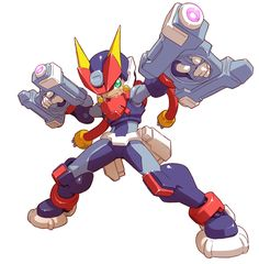 Grey - Biometal Model A - Characters & Art - Mega Man ZX Advent