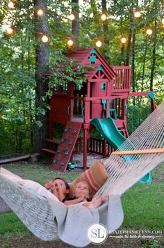 A Hammock To Oversee The Kids Playhouse ❣