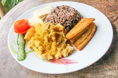 Gallo Pinto costa rica typical breakfast  Panaderia Delicias Drake town, Osa Peninsula Costa Rica #food #foodie #vacation #travel