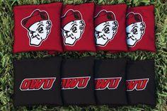 Ohio Wesleyan Battling Bishops Team Logo Cornhole Replacement Bag Set