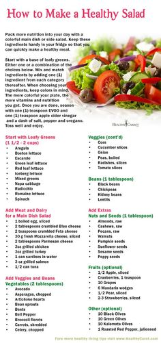 Do you want to learn how to make a healthy salad in no time? Great tips for making one at home or when ordering out!