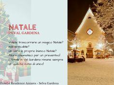 Today in Selva Val Gardena is snowing...we are in October and we have 20 cm of snow! Amazing! So for Christmas we will have a lot of snow  and why don't spend your Christmas holiday with us in our Hotel&Residence Antares? Christmas is so special in our mountain, with snow, Christmas market, musical concert, ski show... Call us and book your magial holiday!