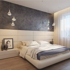 modern - Architecture and Home Decor - Bedroom - Bathroom - Kitchen And Living Room Interior Design Decorating Ideas - Master Bedroom Interior, Bedroom Bed Design, Bedding Master Bedroom, Modern Bedroom Design, Home Decor Bedroom, Bedroom Dimensions, Bungalow Interiors, Modern Home Interior Design, Luxurious Bedrooms