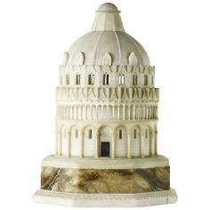 Grand Tour, Alabaster Model of Pisa Baptistry, Inscribed by Mawe, circa 1820 | From a unique collection of antique and modern architectural models at https://www.1stdibs.com/furniture/more-furniture-collectibles/architectural-models/