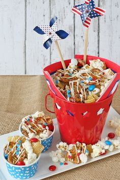 4th of July Snack Mix - Glorious Treats