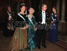 Queen Silvia wore this tiara for the Nobel Laureates Dinner on December 11, 1997.