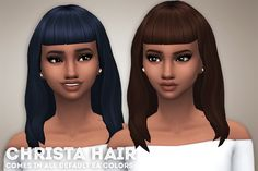 """ivo-sims: """" Christa Hair • Comes in all default EA colors • Hat Compatible • Base-Game Compatible • Retexturing/Recoloring is allowed but don't include the mesh DOWNLOAD """""""