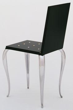 Lola Mundo Chair, 1988 by Philippe Starck (aluminium, wood, rubber) Philippe Starck, Cool Furniture, Modern Furniture, Furniture Design, Steel Drawing, Luxury Bar, Estilo Art Deco, Chaise Sofa, Modern Retro