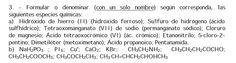 Ejercicio 3, Propuesta 1, Setiembre 1999. PAU Química de Canarias.