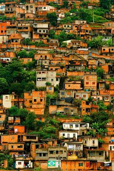 Cafezal favela in Belo Horizonte, Brasil has over 70,000 residents. Very sad to see so many ppl living in a small, poor area in the mountains.