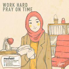 work hard pray on time Medical Wallpaper, Islamic Cartoon, Cartoon Quotes, Girl Reading, Drawing Poses, Figure Drawing, Islamic Quotes, Quran, Work Hard