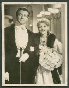 Greta Garbo and Robert Taylor in Camille. Garbo wearing Joseff Hollywood Jewelry.