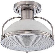 Quoizel Warren Brushed Nickel 13 1/2-Inch-W Ceiling Light