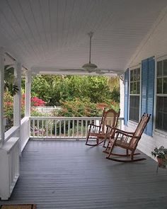 A perfect sort of porch to spend summers with the grand kids and grow old together...