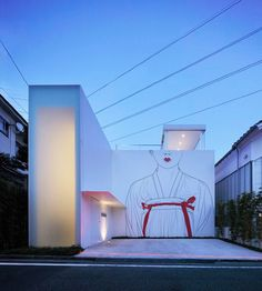 Artist Adds Classic Drawings to Modern Japanese Homes (6 drawings)