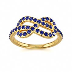 Blue Sapphire Ring Magic Knot Deluxe