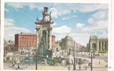 Vistas de Barcelona, Pza Victoria. Pza españa. Toros Monumental y General. Nikolaus Reuss y Lorjusa