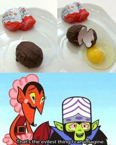 so so evil...