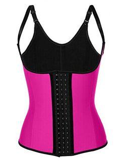 d03d502b1d SODAO Womens Plus Size Sport Latex Waist Trainer Corset Vest Cincher Shaper  6XL   Rose