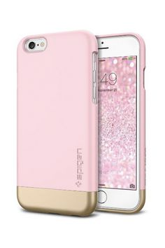 iPhone 6 Case, Spigen® [Safe Slide] iPhone 6 Case Protective [Style Armor] [Sherbet Pink] SOFT-Interior Scratch Protection Metallic Finished Base with Dual Layer Protection Slim Trendy Hard Case for iPhone 6 - Sherbet Pink Spigen Iphone 6 Cases, Cute Phone Cases, Mobile Phone Cases, Iphone 5s, Apple Iphone, Phone Covers, Pink Iphone, Coque Iphone, Iphone Accessories