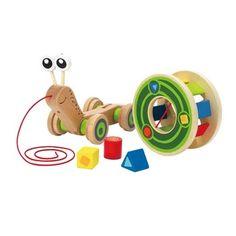 Kids Wooden Toys|Hape Walk Along Snail|Lime Tree Kids