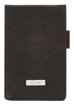 These 'Nu Elite Prestige' PU notebooks have been redesigned with a sleek new look and feel. The covers feature a premium faux leather soft touch finish, and an engraved metal plaque with logo detailing. This books consist of 100 pages of high quality 100gsm white perforated ruled paper with a handy elastic closure, pen loop and internal pocket to keep loose notes.  This product is also available in Tan  Page Count:120 GSM:100 Cover Material: Soft PU