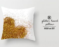 Decoración de almohadas con glitters