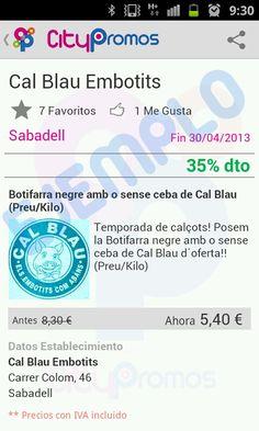 Ejemplos de ofertas en Citypromos - Sabadell