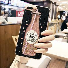 Botella de bebida quicksand Caso para iphone 7 Plus 7 líquido Dinámico glitter Case Para el iphone 6 6 s 6 Más estilo de la muchacha en Casos amueblada de Teléfonos y Telecomunicaciones en AliExpress.com | Alibaba Group